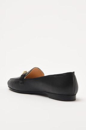 Hotiç Hakiki Deri Siyah Kadın Loafer Ayakkabı 01AYH205150A100 3