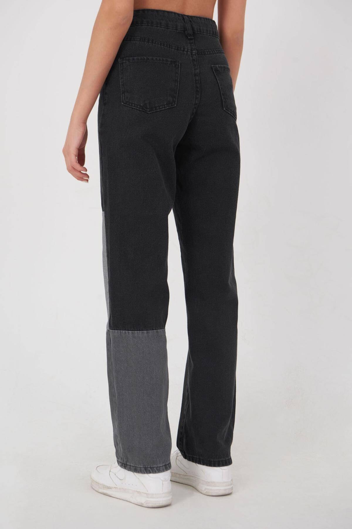 Addax Kadın Antrasit Gri Cep Detaylı Pantolon Pn1153 - Pnd Adx-0000023940