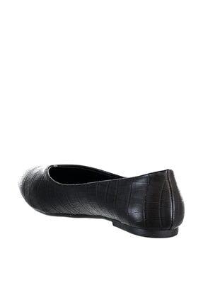 Soho Exclusive Siyah Kroko Kadın Babet 15793 3