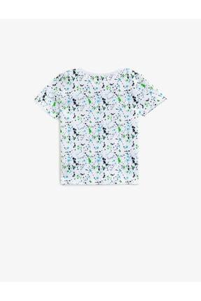 Koton Erkek Bebek Beyaz Bisiklet Yaka Pamuklu Tshirt 1