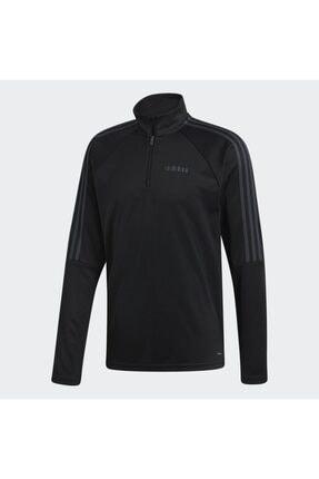 adidas Erkek Siyah Fermuarlı Sweatshirt Dy7980 0