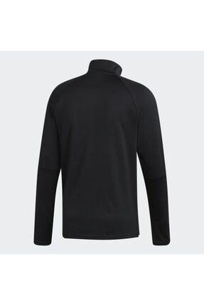 adidas Erkek Siyah Fermuarlı Sweatshirt Dy7980 1