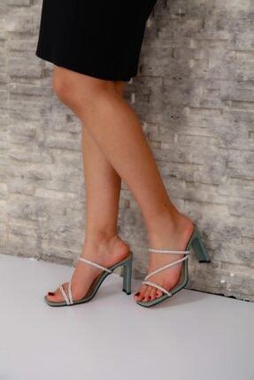 Crocus Kadın Topuklu Yeşil Crocus Topuklu