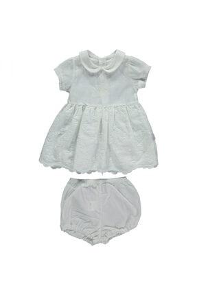 Bebetto Kız Bebek Bej Elbise Set 2li 0