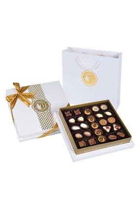 Bolçi Diamond Beyaz Hediye Çikolata Kutu 290gr 0