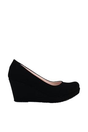 Soho Exclusive Siyah Süet Kadın Dolgu Topuklu Ayakkabı 15849 3
