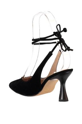 Soho Exclusive Siyah Süet Kadın Klasik Topuklu Ayakkabı 15776 4