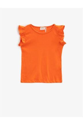Koton Kız Çocuk Turuncu Basic Tisört 0