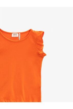 Koton Kız Çocuk Turuncu Basic Tisört 2
