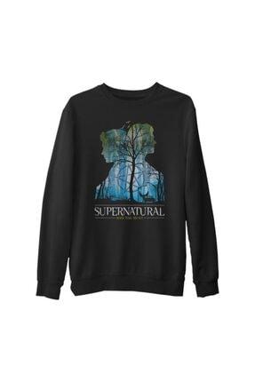 Lord T-Shirt Erkek Siyah Supernatural Impala Kalın Sweatshirt 0