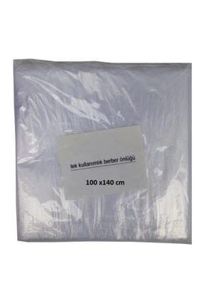 gürbey pazarlama Tek Kullanımlık Berber Kuaför Önlüğü Kesim Penuarı Naylon [ 50 Adet ] Bağlamalı 0