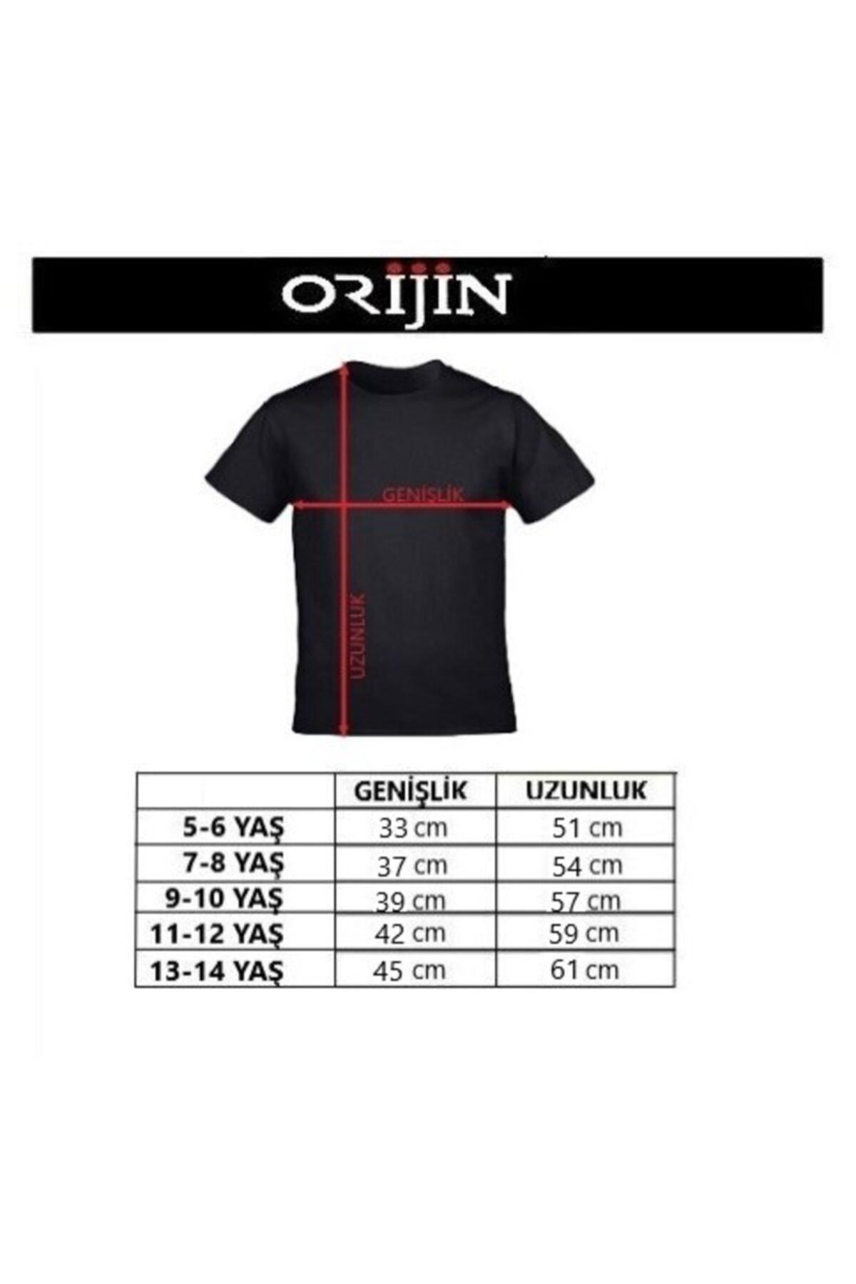 Orijin Tekstil Among Us Impostor Baskılı Kırmızı Çocuk Tshirt