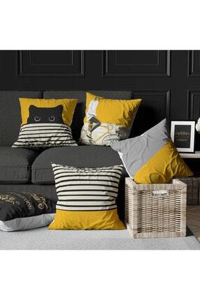 Ottoson Home Özel Tasarım Dekoratif Kırlent Kılıfı 4lü 1