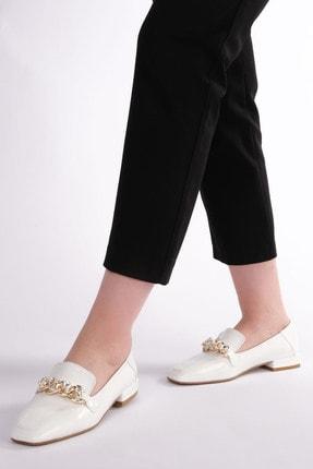 Marjin Kadın Beyaz Rugan Loafer Ayakkabı Bifan 0