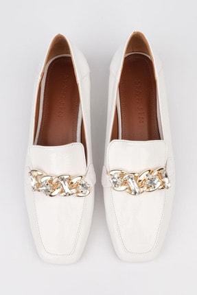 Marjin Kadın Beyaz Rugan Loafer Ayakkabı Bifan 4