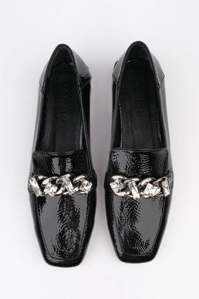 Marjin Kadın Siyah Rugan Loafer Ayakkabı Bifan 0