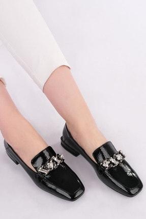 Marjin Kadın Siyah Rugan Loafer Ayakkabı Bifan 3