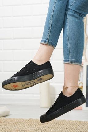 MCN SHOES Kadın Siyah Şeffaf Taban Günlük Sneaker 0