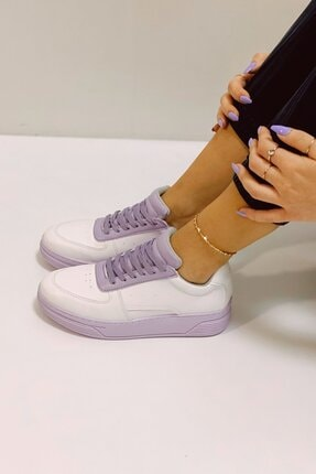 Nil Shoes Beyaz Lila Popi Spor Ayakkabı 2