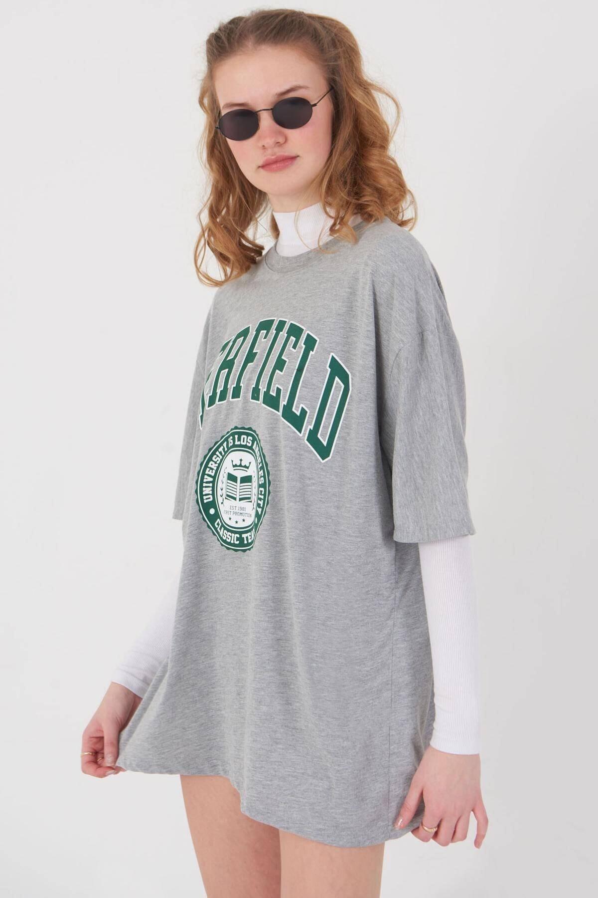 Addax Baskılı T-shirt P9549 - B10 3