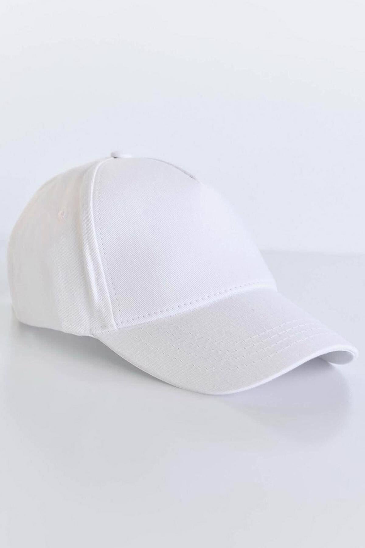 Addax Kadın Beyaz Unisex Şapka ŞPK1007 ADX-0000022027 2