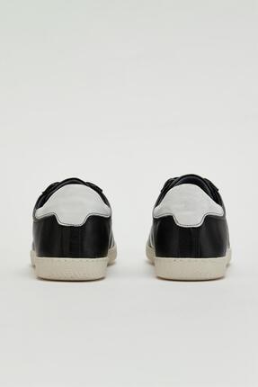 Muggo Erkek Siyah Hakiki Deri Sneaker Mgoslo04 2