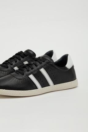 Muggo Erkek Siyah Hakiki Deri Sneaker Mgoslo04 3
