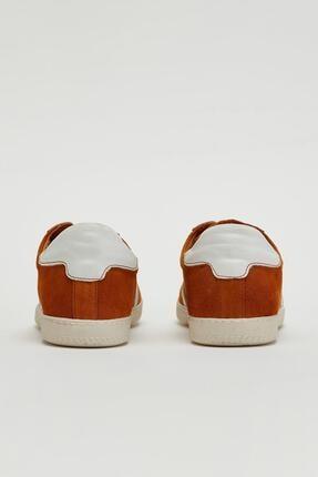 Muggo Erkek Kahverengi Hakiki Deri Sneaker Mgoslo04 2