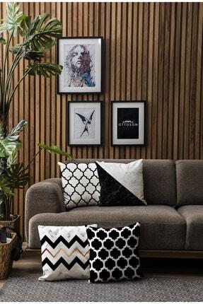 Ottoson Home Özel Tasarım Dekoratif 4lü Kombin Kırlent Kılıfı 2