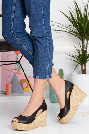 derithy Kadın Siyah Older Dolgu Topuklu Ayakkabı lzt0536 1