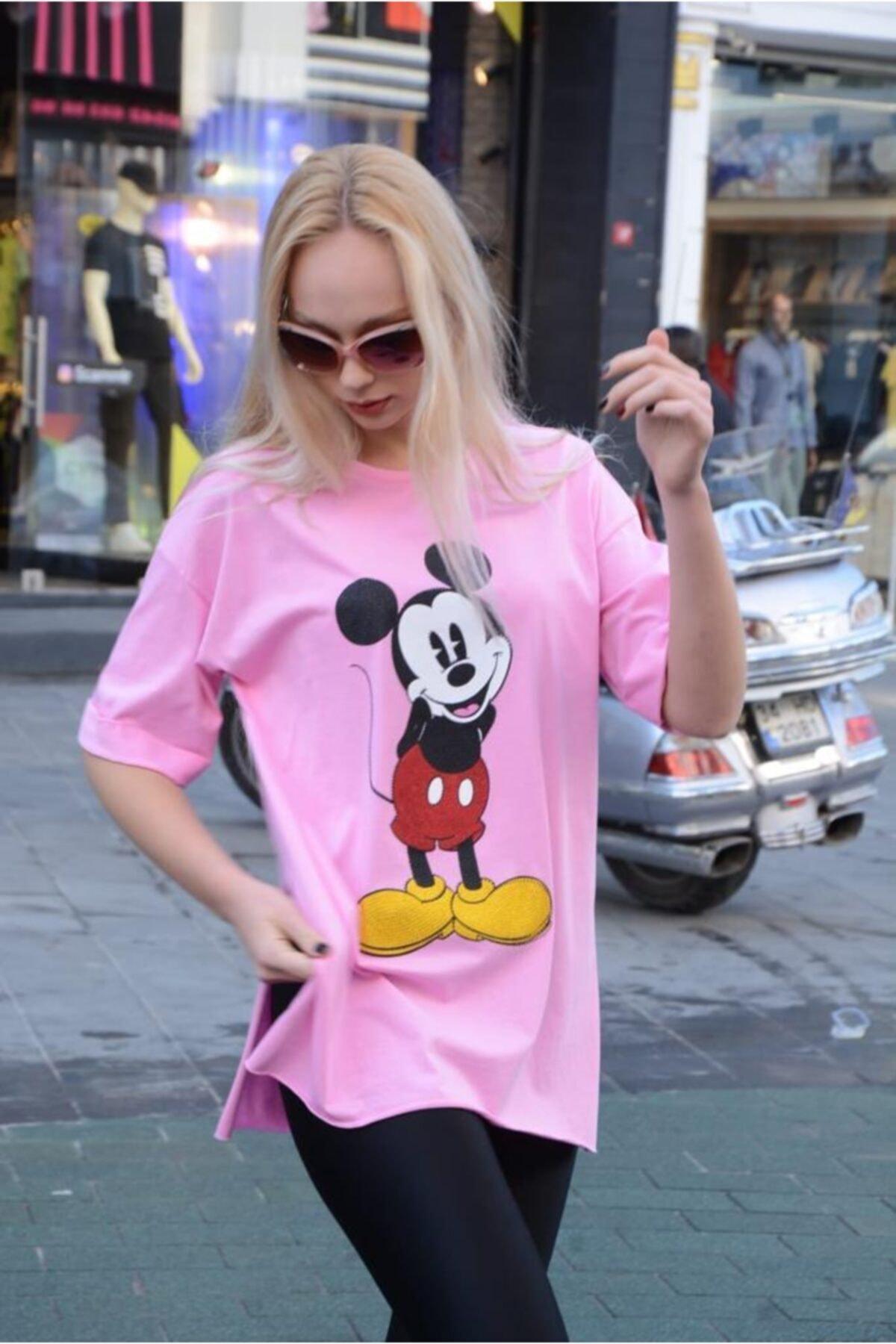 Lsk Mickey Baskılı Tişört