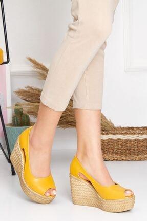 derithy Older Dolgu Topuklu Ayakkabı-hardal-lzt0536 1