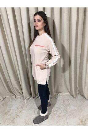Loreen Kadın Bej Sweatshirt Tunik 4
