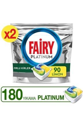 Fairy Platinum 180 Yıkama Bulaşık Makinesi Deterjanı Kapsülü Limon Kokulu 0