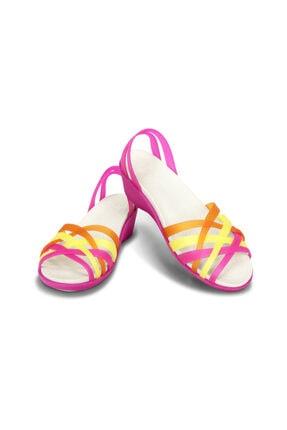 Crocs HUARACHE MINI WEDGE WOMEN Fuşya Kadın Sandalet 100528942 0