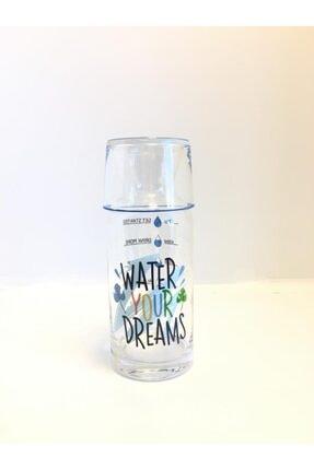 DEKOVİDİ Water Your Dreams Yazılı Başucu Sürahi Karaf Seti 0