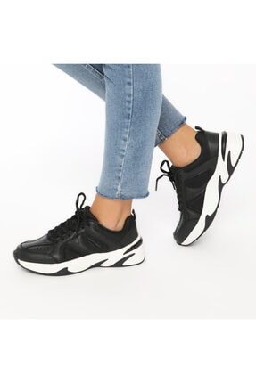 Lumberjack LEGEND WMN 9PR Siyah Kadın Sneaker Ayakkabı 100406626 4