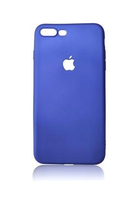 Iphone 7 Plus Uyumlu Metalik Mavi Plastik Kılıf 7 plus metalik mavi