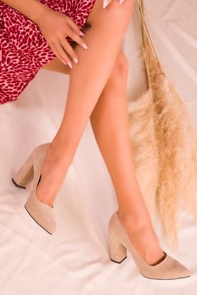 Soho Exclusive Ten Süet Kadın Klasik Topuklu Ayakkabı 15313 0