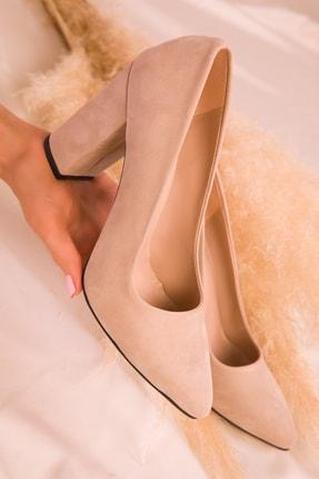Soho Exclusive Ten Süet Kadın Klasik Topuklu Ayakkabı 15313 1
