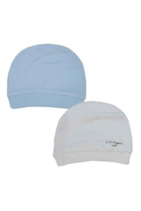 Picture of Boze Organik Basic 2li Şapka 76056 Beyaz-mavi