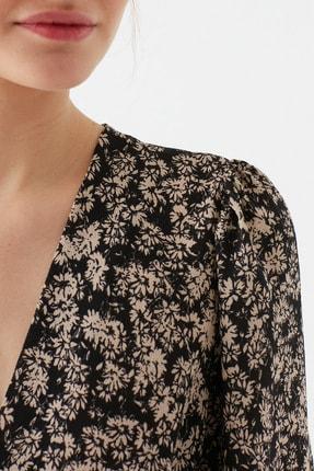 Mavi Kadın Çiçek Baskılı Kahverengi  Bluz 122736-33479 4