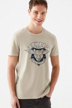 Mavi Rebels Of Baskılı Bej Tişört 0