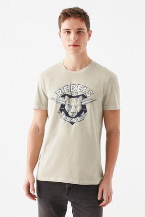 Mavi Rebels Of Baskılı Bej Tişört 3