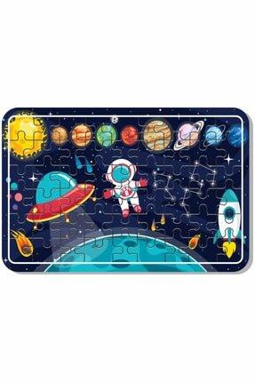 Baskı Atölyesi Uzay, Dinazor, Oyun, Hayvanlar 54 Parça Ahşap Puzzle Yapboz 5'li Set 1