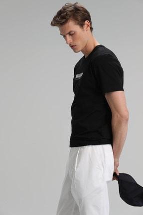 Lufian Timur Modern Grafik T- Shirt Siyah 3