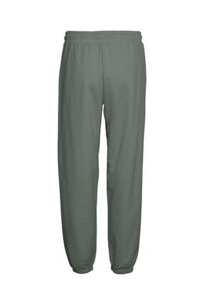 Vero Moda Kadın Yeşil Paçası Lastikli Yüksek Bel  Pantolon 4