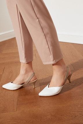 TRENDYOLMİLLA Beyaz Kadın Klasik Topuklu Ayakkabı TAKSS21TO0004 0
