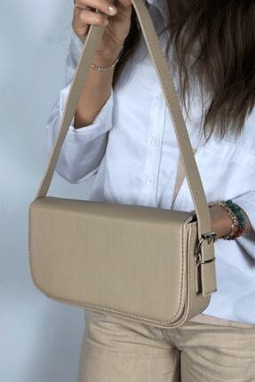 LinaConcept Kadın Vizon Kapaklı Baget Çanta 0