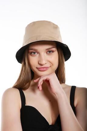 Y-London 13614 Çift Taraflı Siyaha Bej Tas Şapka 1